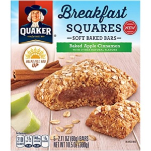 Apple Cinnamon Breakfast Squares from Quaker