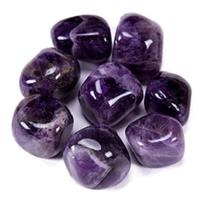 Amethyst Tumbled Stones from Bingcute