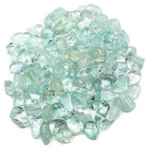 Blue Topaz Tumbled Chips from Healing Crystals