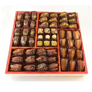 Chocolate Covered Filled Medjool Dates from The Date Place