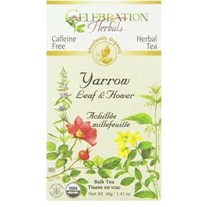 Yarrow Herbal Leaf Flower Tea from Celebration Herbals