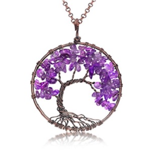Amethyst Tree of Life Pendant from Uniki