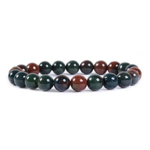Bloodstone Gemstone Bracelet from Amandastone