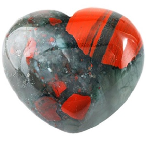 Bloodstone Heart Crystal from Rockcloud