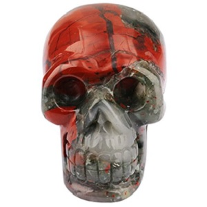 Bloodstone Skull Carving from SUNYIK