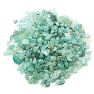 Aquamarine Tumbled Chips from Healing Crystals
