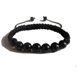 Black Tourmaline Healing Yoga Bracelet from ZENstore