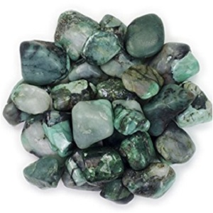 Emerald Tumbled Stones from Hypnotic Gems