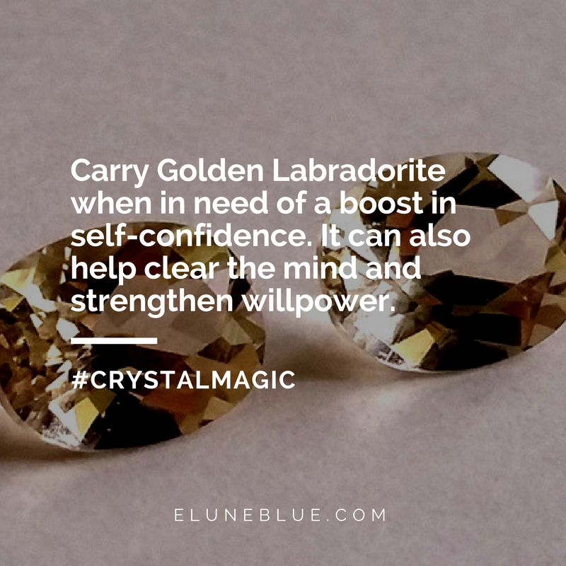 Golden Labradorite Meaning and Uses- Crystal Meanings - Elune Blue (Social Media)