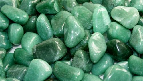 "The name Aventurine comes from the Italian word ventura, which means ""by chance.""  It alludes to the way a glass pattern was discovered that resembles the stone later given this name. -- Green Aventurine Meaning"