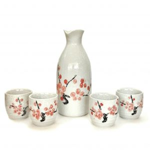 Japanese Cherry Blossom Sake Set from Happy Sales