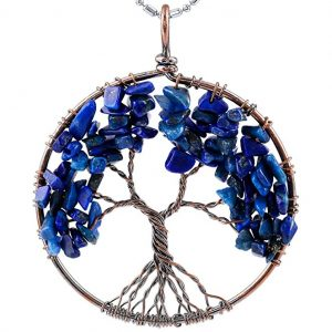 Lapis Lazuli Tree of Life Pendant from SUNYIK