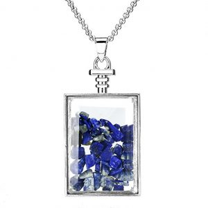 Lapis Lazuli Wishing Bottle Pendant from Beadnova