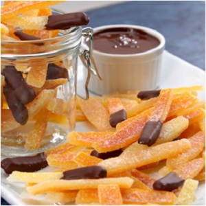 Candied Orange Peel Dipped in Chocolate [Recipe]