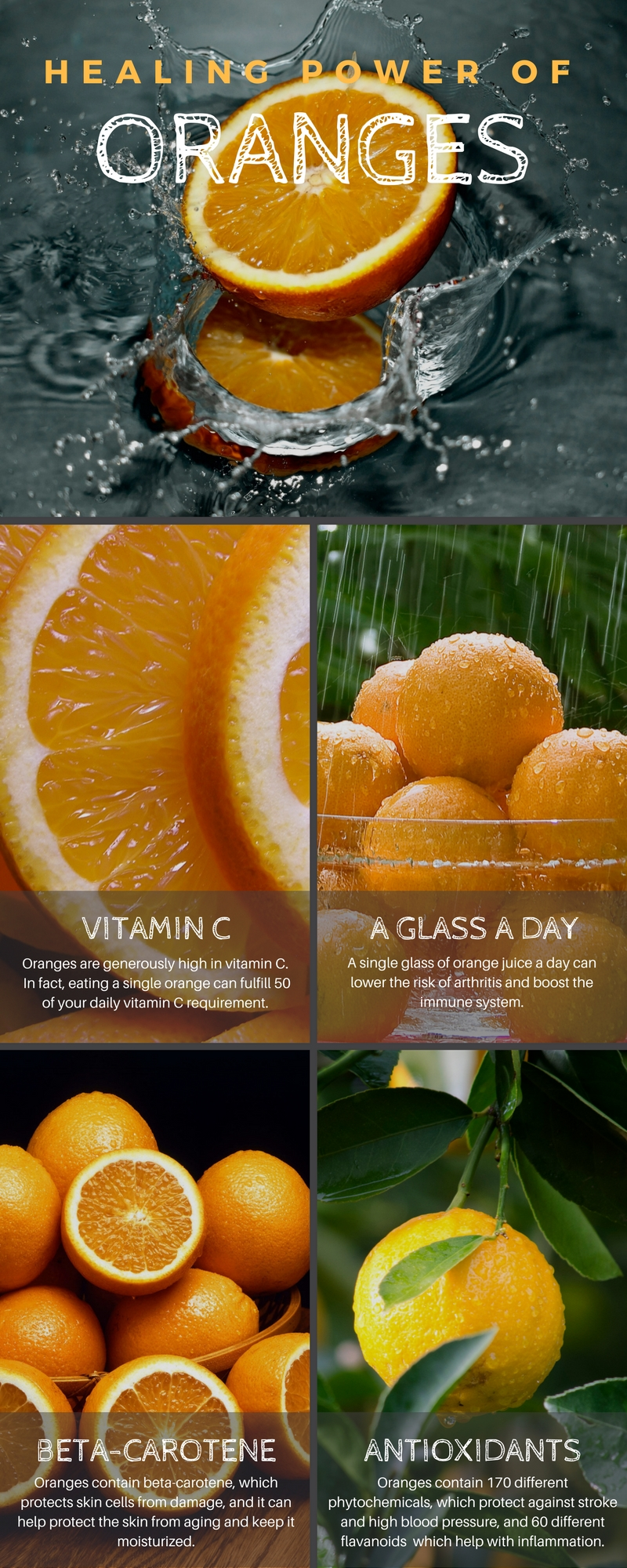 The Magical Benefits Of Eating Oranges Infographic