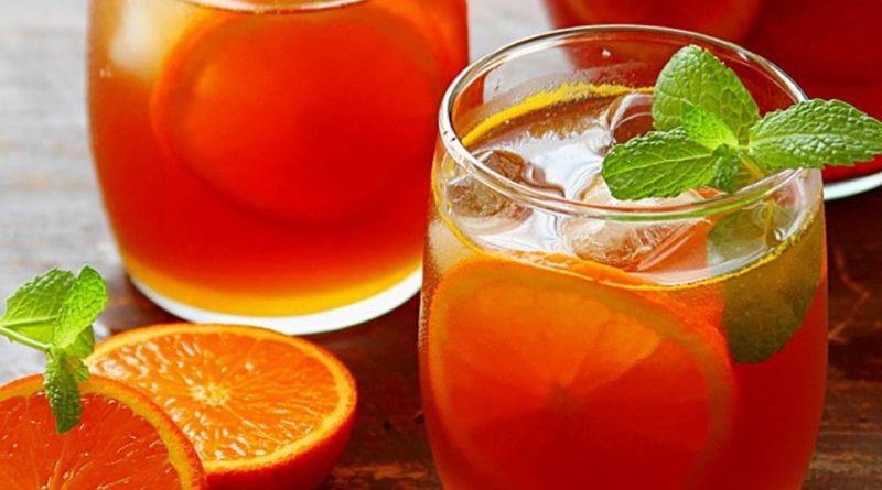 Sparkling Orange Peel and Pineapple White Iced Tea from Elune Blue -- Orange Peel Tea Recipe