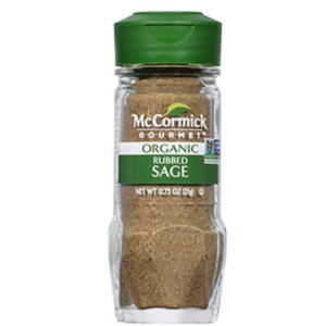Gourmet Rubbed Organic Sage from McCormick