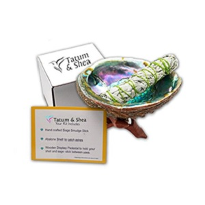 White Sage Smudging Kit with Abalone Shell from Tatum & Shea