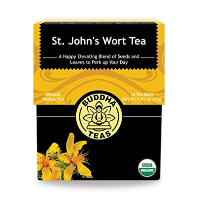 St. John's Wort Tea is a mood-elevating tea. A kick of bitterness followed by a sweet aftertaste makes for a pleasant cup of joy. -- St John's Wort Tea